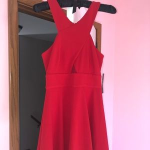 Lulu's Red Cocktail Dress XS